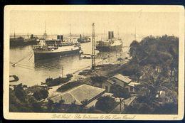 Cpa Egypte Port Saïd -- The Entrance Of The Suez Canal -- Entrée Du Canal De Suez  SEP17-37 - Port Said
