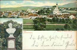 AK Murnau, Gesamtansicht, König Ludwig-Denkmal, O 1905, Rechter Rand Oxidiert (dunkel) (21179) - Germany