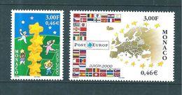 Monaco Timbres  De 2000  N°2248  Et 2249   Neufs ** Parfait - Neufs