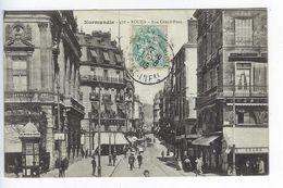 CPA Animée Normandie Rouen Rue Grand Pont N° 478 - Rouen