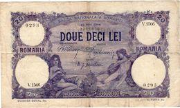Peu Courant Billet  DOUE DECI LEI  ROUMANIE 20 LEI  12 Mai 1916 BANCA NATIONALA A ROMANIEI - Roumanie