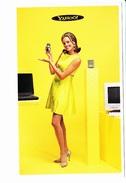 YAHOO!, Téléphone Portable, Ordinateur, Minitel, Jeune Femme, Ed. 1999 - Publicité