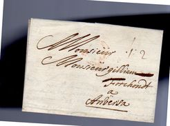 1678 RED CANCEL 12+2=14 Stuivers Wien To Guillaume Forchond Antwerp  (EO1-62) - Austria