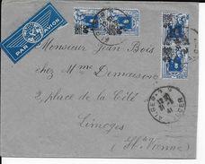 ALGERIE - 1941 - ENVELOPPE Par AVION De ALGER => LIMOGES - Algérie (1924-1962)
