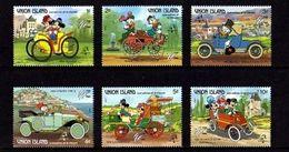 St. Vincent 1989 Mickey Disney Cartoon Animation Philex France Antique Car Motor Transport Stamps (10) MNH Sc 241-246 - Disney
