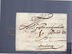 1677 Cadiz Spain To Guillaume Forchond Antwerp (EO1-66) - ...-1850 Prephilately