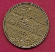 Liban - 25 Piastres - 1952 - Libano