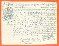 59 Roubaix - Généalogie - Extrait Acte De Naissance En 1899 - Timbre Fiscal -  2 Scans -VPAN 2 - Naissance & Baptême