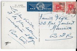 ALGERIE - 1940 - CARTE PaR AVION De ALGER => MARSEILLE - Algérie (1924-1962)