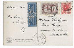 ALGERIE - 1940 - CARTE PaR AVION De ALGER => MARSEILLE - Algeria (1924-1962)