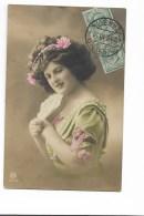 DONNA D'EPOCA PRIMO PIANO 1910 -  VIAGGIATA  FP - Donne