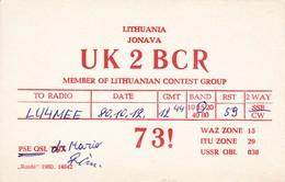 UK2BCR LITUANIA/LITHUANIA 1980 - QSL CARD - RADIOAFICIONADOS/RADIO HAM - BLEUP - Amateurfunk