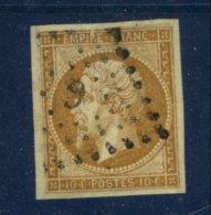 PARIS: 20c Empire Non Dentelé Y&Tellier N°114A  TB Oblt Losange : G (romaine) - Marcophilie (Timbres Détachés)