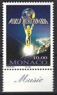 Monaco  Yv 2158  **  10e World Music Awards - Muziek