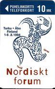 TÉLÉCARTE PHONECARD TARJETAS  FINLANDE NORDISKT FORUM 1994  BANDE MAGNÉTIQUE - Finlande