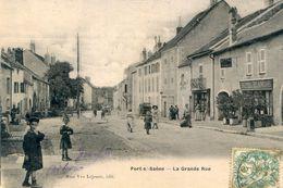 70  PORT SUR SAONE   LA GRANDE RUE ANIMEE - Francia