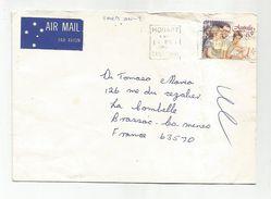AUSTRALIE LETTRE AVION DE HOBART POUR LA FRANCE 1987 - 1980-89 Elizabeth II