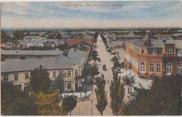 CPA ROUMANIE ROMANIA GIURGIU Str Principele Nicolae Carte Colorisée 1919 - Rumania