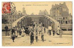 Cpa: 76 DIEPPE - Pont Tournant Du Pollet (Très Animé, Attelage, Toilée) 1908  N° 16 - Dieppe