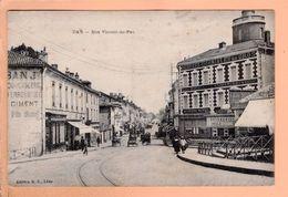 Cpa  Cartes Postales Ancienne - Dax Rue Vincent De Pau - Dax