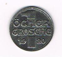 ) STADT AACHEN 1920  1 ÖCHER GROSCHE  NOTZMUNZE - Monétaires/De Nécessité