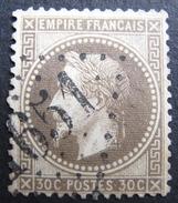 LOT R1595/9 - NAPOLEON III Lauré N°30h Fond Ligné - GC 1651 GIGNAC (Hérault) INDICE 4 - 1863-1870 Napoleon III With Laurels