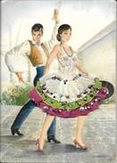 Tarjeta Postal Espana Cegarra Bailarines. Postkarte Spanien Stickereien Und Tänzer. 0105171002 - Borduurwerk
