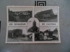 CPSM FORMAT ACTUEL  -  UN BONJOUR DE CASTEAU  -  CARTE TRES RARE - Soignies