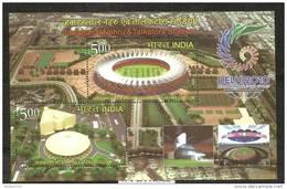 INDIA ,2010, XIX Commonwealth Games, Stadium, Stadiums Of India,  Miniature Sheet, MNH, (**) - Nuovi
