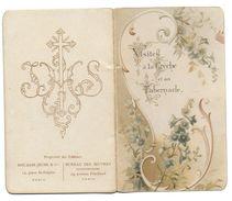 Chromos IMAGE RELIGIEUSE Livret Visites à La Crèche Et Au Tabernacle Mai 1899  RELIGION Christianisme - Images Religieuses