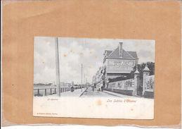 LES SABLES D'OLONNE - 85 - CPA DOS SIMPLE - Le Remblai -Grand Café LAFARGUE Au 1er Plan  - POIT - - Sables D'Olonne