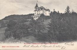 ST.GALLEN - Restaurant Und Pension Scheffelstein, Gel.1906 - SG St. Gallen