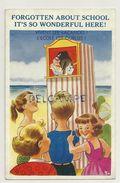Enfants à La Plage. Guignol. Vivent Les Vacances. Sunshine Comic Post Card - 1900-1949