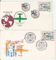 POLAR FLIGHTS, CALIN ROSETTI CIRCUMPOLAR RECORD FLIGHT, SPECIAL COVER, 2X, 1992, ROMANIA - Polar Flights