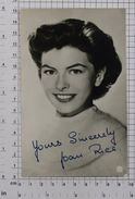 JOAN RICE - Vintage PHOTO Autograph REPRINT (AT-05) - Reproductions