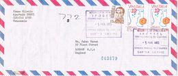 25583. Carta Aerea Certificada SABANA GRANDE.  CARACAS (Venezuela) 1985. Marca IPOSTEL - Venezuela