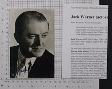 JACK WARNER - Vintage PHOTO Autograph REPRINT (AT-20) - Reproductions
