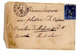 Lettre De Bain De Bretagne (06.1.1890) Pour Retiers_Bureau De Passe 3112 Rennes_cachet Arrivée RHETIERS - 1876-1898 Sage (Type II)