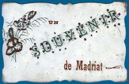 SOUVENIR DE MADRIAT 1907 SAINT GERMAIN LEMBRON 63 PUY DE DOME AUVERGNE - SITE Serbon63 DES MILLIERS D'ARTICLES EN VENTES - Saint Germain Lembron