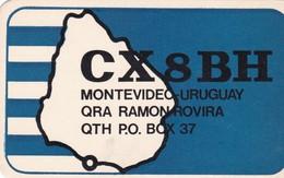 CX8BH MONTEVIDEO, URUGUAY 1987 - QSL CARD - RADIOAFICIONADOS/RADIO HAM - BLEUP - Radio Amateur