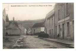 CPA 21 BLAISY BAS La Poste Et La Place Du Jet D'Eau - France