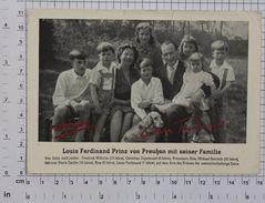 PRINCE LOUIS FERDINAND Von PREUSEN - Vintage PHOTO Autograph REPRINT POSTCARD (AT-61) - People