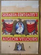 Emballage Superbement Illustré Chocolat AIGLON CHOCOLATERIE L'AIGLON L.GRIVEGNEE VERVIERS-Tablette 350 Grs AIGLON VELOUR - Chocolade