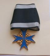 """Prussienne, L'ordre """"Pour Le Mérite"""" MEDAGLIA A CROCE  POUR LE MERITE  , RIPRODUZIONE - Alemania"""