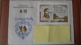 DDR Brief Mit Mi.Nr.Bl.44(Eichendorff)mit Ortsstempel Leipzig Nach Wermelskirchen - [6] República Democrática