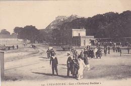 Cpa-50- Cherbourg --gare Cherbourg Barfleur-animée-edi Artaud N°141 - Cherbourg