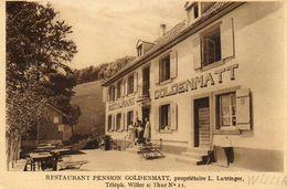 CPA - Environs De WILLER-sur-THUR (68) - Aspect De La Ferme-Auberge Goldenmatt L.Lutringer En 1932 - Francia