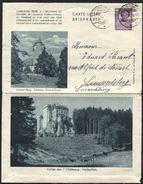 LUXEMBOURG - Carte-lettre Illustrée à 70c Colmar-Berg Obl. STEINFORT 1939. Assez Rare. - Stamped Stationery