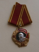 UNIONE SOVIETICA , MEDAGLIA AL MERITO  LENIN, RIPRODUZIONE - Rusia