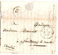 Lettre De Gray (01.02.1831) Pour Fontenay Le Comte - Marcophilie (Lettres)